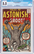 Silver Age (1956-1969):Science Fiction, Tales to Astonish #13 (Marvel, 1960) CGC FN- 5.5 Cream to off-whitepages....