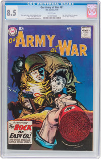 Our Army at War #81 (DC, 1959) CGC VF+ 8.5 White pages