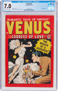 Golden Age (1938-1955):Romance, Venus #6 (Timely, 1949) CGC FN/VF 7.0 Cream to off-white pages....