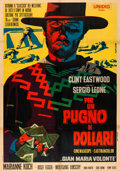 "Movie Posters:Western, A Fistful of Dollars (Unidis, R-1968). Italian 2 - Fogli (38"" X54.5"") Michelangelo Papuzza Artwork.. ..."