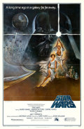 "Movie Posters:Science Fiction, Star Wars (20th Century Fox, 1977). First Printing One Sheet (27"" X41"") Ratings Box Style A, Tom Jung Artwork.. ..."