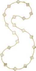 Estate Jewelry:Necklaces, Mother-of-Pearl, Gold Necklace, Van Cleef & Arpels, French. ...