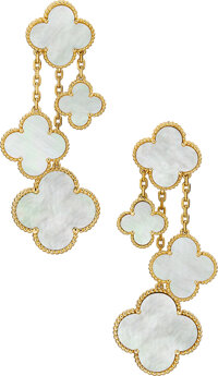 Mother-of-Pearl, Gold Earrings, Van Cleef & Arpels, French