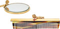 Estate Jewelry:Other, Ruby, Sapphire, Gold Mirror and Comb, Ruser. ... (Total: 2 Items)