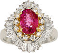 Estate Jewelry:Rings, Burma Ruby, Diamond, White Gold Ring . ...