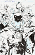 Original Comic Art:Splash Pages, Mike Norton and Bill Sienkiewicz JSA 80 Page Giant #1 SplashPage 5 Original Art (DC, 2010)....