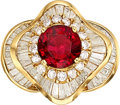 Estate Jewelry:Rings, Burma Spinel, Diamond, Gold Ring . ...