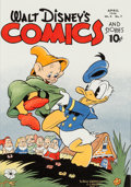 Original Comic Art:Covers, C.C. Beck Walt Disney's Comics and Stories V4#7 (#43) CoverRecreation Donald Duck and the Seven Dwarfs Original A...