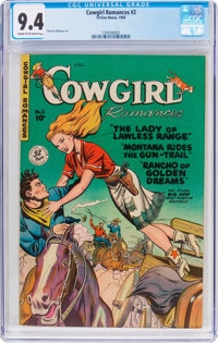 Cowgirl Romances #2 (Fiction House, 1950) CGC NM 9.4 Cream to off-white pages