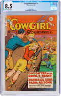 Golden Age (1938-1955):Romance, Cowgirl Romances #3 (Fiction House, 1950) CGC VF+ 8.5 Light tan tooff-white pages....