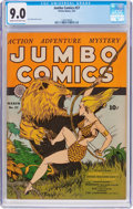 Golden Age (1938-1955):Adventure, Jumbo Comics #37 (Fiction House, 1942) CGC VF/NM 9.0 Cream to off-white pages....
