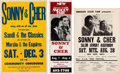 Music Memorabilia:Posters, Sonny & Cher Group of Three Concert Posters (Circa1960s-70s).... (Total: 2 Items)
