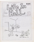 Modern Age (1980-Present):Humor, Life in Hell #4 Self-Published Zine (1978) Condition: VF-....