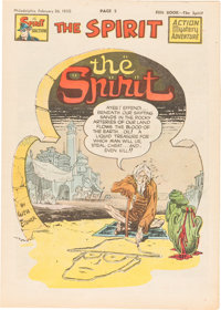 The Spirit (weekly newspaper insert) Tabloid Group of 39 (Various Publishers, 1950) Condition: Average VF+.... (Total: 3...