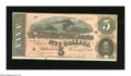 Confederate Notes:1864 Issues, T69 $5 1864. Close observation reveals just a touch of handling. Choice About Uncirculated....