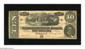 Confederate Notes:1864 Issues, T68 $10 1864. This lightly handled 1st Series Ten has one of the darkest blue backs you will ever find for this issue. Ext...