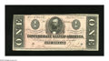 Confederate Notes:1864 Issues, T71 $1 1864. This bright Ace has a spot on the back. Fine-Very Fine....