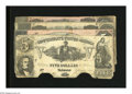 Confederate Notes:Group Lots, T37 $5 1861 Fine, COC. T68 $10 1864 Two Examples Fine, tear; Fine.T69 $5 1864 VF.. The T68 with the approximate hal... (Total: 4notes)