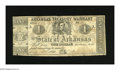 Obsoletes By State:Arkansas, Little Rock, AR- Arkansas Treasury Warrant $1 Jan. 1, 1863. This is the Jefferson Davis $1 variety without printing on the b...
