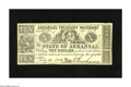 Obsoletes By State:Arkansas, (Little Rock,) AR- State of Arkansas $10 July 21, 1862. A wild and crazy lateral gutter is found on this $10. A trace of ink...