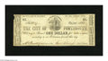 Obsoletes By State:New Hampshire, Portsmouth, NH- City of Portsmouth $1 Oct. 29, 1862. This crisp note has an edge chip at upper left. Fine+....