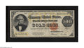 Large Size:Gold Certificates, Fr. 1215 $100 1922 Gold Certificate Very Good+. The colors arepleasing on this circulated high denomination note that exhib...