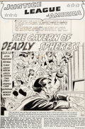 Original Comic Art:Splash Pages, Mike Sekowsky and Bernard Sachs Justice League of America#16 Splash Page 1 Original Art (DC, 1962)....