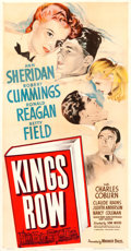 "Movie Posters:Drama, Kings Row (Warner Brothers, 1942). Three Sheet (41"" X 79"").. ..."