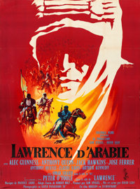 """Lawrence of Arabia (Columbia, 1962). French Grande (46"""" X 62.75"""") Style A, Georges Kerfyser Artwork"""