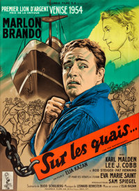 "On the Waterfront (Columbia, 1954). Full-Bleed French Grande (46"" X 63"") Style A, Guy Arnstam Artwork"