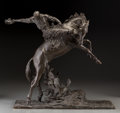 Bronze:American, Constance Whitney Warren (1888-1948). The Cowboy, 1924.Bronze with black patina. 18-1/2 inches (47.0 cm) high. Inscribe...