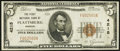 National Bank Notes:Missouri, Plattsburg, MO - $5 1929 Ty. 1 The First NB Ch. # 4215. ...