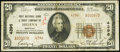 National Bank Notes:Montana, Helena, MT - $20 1929 Ty. 2 First NB & TC Ch. # 4396. ...