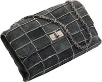 "Chanel Gray Patchwork Suede Medium Reissue Flap Bag Excellent Condition 10"" Width x 6"" Height x 2.5"" Dept..."