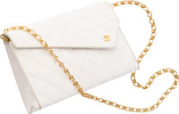 """Chanel Quilted White Lizard Shoulder Bag Good to Very Good Condition 9.5"""" Width x 6"""" Height x 2"""" Depth&am..."""