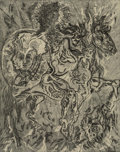 Prints & Multiples, Gabor F. Peterdi (1915-2001). Alexander, 1950. Etching on paper. 32 x 25 inches (81.3 x 63.5 cm) (sheet). Ed. 10/15. Sig...