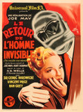 "Movie Posters:Horror, The Invisible Man Returns (Universal, 1947). First Post-War ReleaseFrench Moyenne (23"" X 31"") Rene Lefebvre Artwork.. ..."