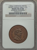 U.S. Presidents & Statesmen, (1866) Andrew Johnson Campaign Medal, Dewitt-AJohn-1866-3, MS65 Redand Brown NGC. Copper....