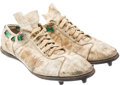 Football Collectibles:Others, 1969 Joe Namath Game Worn & Signed New York Jets Cleats....