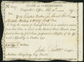 Colonial Notes:Connecticut, Connecticut Interest Transfer Certificate $13.20 Feb. 11, 1797Anderson CT-57 Very Fine-Extremely Fine.. ...