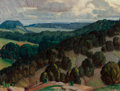 Fine Art - Painting, American, Alexandre Hogue (American, 1898-1994). Glen Rose, 1926. Oilon canvas laid on Masonite. 16-1/4 x 20-1/4 inches (41.3 x 5...