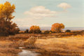 Paintings, Robert William Wood (American, 1889-1979). Golden Hours, 1964. Oil on canvas. 24 x 36 inches (61.0 x 91.4 cm). Signed an...