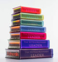 Fine Art - Sculpture, American:Contemporary (1950 to present), Airan Kang (Korean, b. 1960). The Extraordinary Leader HyperBook Stack, 2010. LED light, resin encasement, custom elect...
