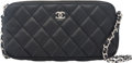 "Luxury Accessories:Bags, Chanel Black Quilted Lambskin Leather Evening Bag. Condition:1. 7"" Width x 3.5"" Height x 1"" Depth. ..."