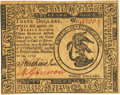 Colonial Notes:Continental Congress Issues, Continental Currency November 29, 1775 $3 Fr. CC-13. PCGS ChoiceNew 63PPQ.. ...