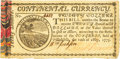Colonial Notes:Continental Congress Issues, Continental Currency May 10, 1775 $20 Fr. CC-9. PCGS Choice AboutNew 55 Apparent.. ...