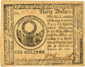 Colonial Notes:Continental Congress Issues, Continental Currency February 26, 1777 $30 Fr. CC-62. PCGS About New 53PPQ.. ...