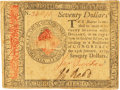 Colonial Notes:Continental Congress Issues, Continental Currency January 14, 1779 $70 Fr. CC-101. PCGS Extremely Fine 45PPQ.. ...