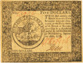 Colonial Notes:Continental Congress Issues, Continental Currency September 26, 1778 $5 Fr. CC-79. PCGS ChoiceAbout New 58PPQ.. ...