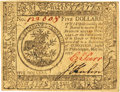 Colonial Notes:Continental Congress Issues, Continental Currency May 20, 1777 $5 Fr. CC-66. PCGS Choice New63.. ...